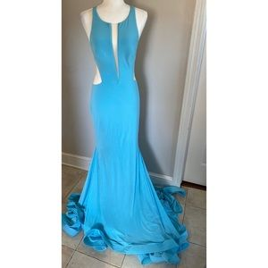 Jovani Jersey Gown with Train